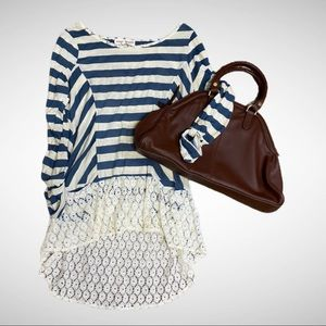 Alter'd State Striped Lace Tunic